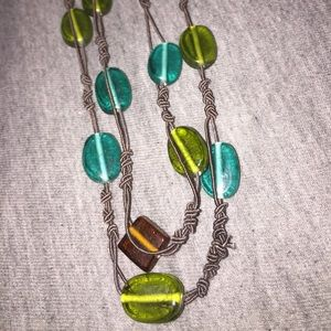 Long Necklace with Stone Beads